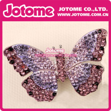Purple Color Charming Beautiful Rhinestone Butterful Brooch Pin for Women Jewelry