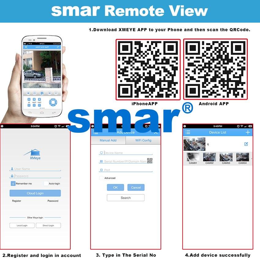 Smar H 264 Dome IP Camera 720P 960P 1080P CCTV Camera Indoor 24 Hours Video  Surveillance Onvif POE 48V Optional Best Price