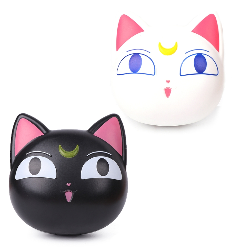 New Design Cute Cartoon Moon Cat With Mirror Contact Lens Case For Women Gift Contact Lenses Box