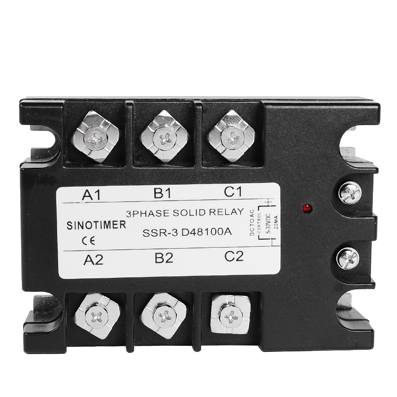 цена на SSR Controller 100A 3 Phase Solid State Relay D48100A DC-AC 30-480V AC Output Module Switch Relay