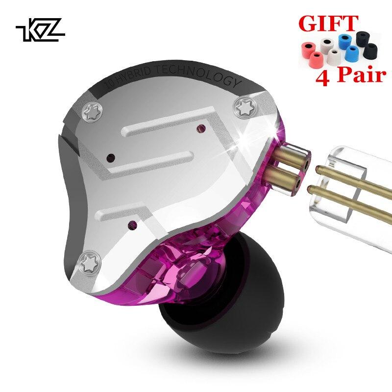 KZ ZS10 PRO 1DD 4BA HIFI Metal Headset Hybrid In Ear Earphone Sport Noise Cancelling Headset