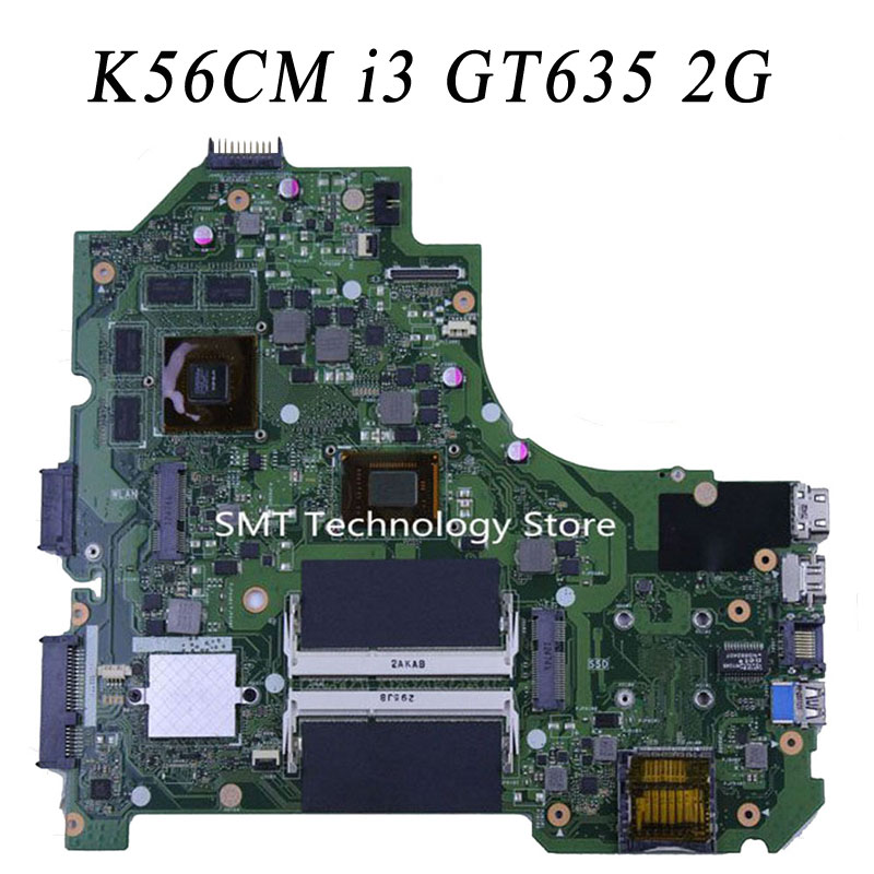 K56CM K56C Rev2.0 With I3 CPU Processor PM laptop motherboard for ASUS  mainboard top quality fully test for asus ux31a ux31a3 laptop motherboard with i5 3517u cpu fully tested rev 4 1 top mainboard