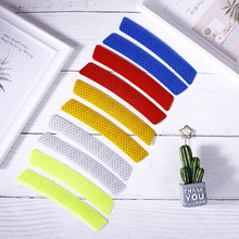 2Pcs/Lot Car Wheel Rim Eyebrow Reflective Warning Strip Stickers Safety Reflector Protective Sticker