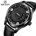 Top Luxury Brand Megir Creative Quartz Sport Watches Men's Casual Business Watch Male Leather Waterproof Military Wrist watch
