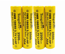 TangsFire30A 18650 Rechargeable Li-ion Battery 3.7V 2500mAh Batteries For Electronic Cigarettes 4pcs