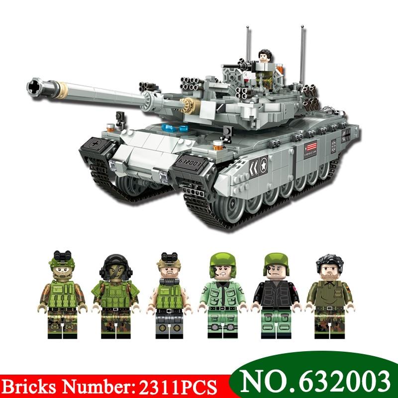 AIBOULLY NEW 632003 Genuine Legoing Military TYPE 99 Main Battle Tank Model Building Blocks Bricks DIY Toys Gifts For Children