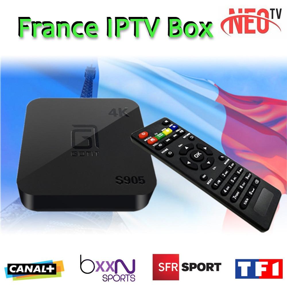 ФОТО French IPTV Box GOTIT S905 TV box Android 5.1 XBMC Smart TV Box with NEO IPTV Europe Arabic IPTV Canal+ sports Cinema Movies