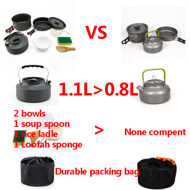 Widesea Camping cookware Outdoor picnic set 10