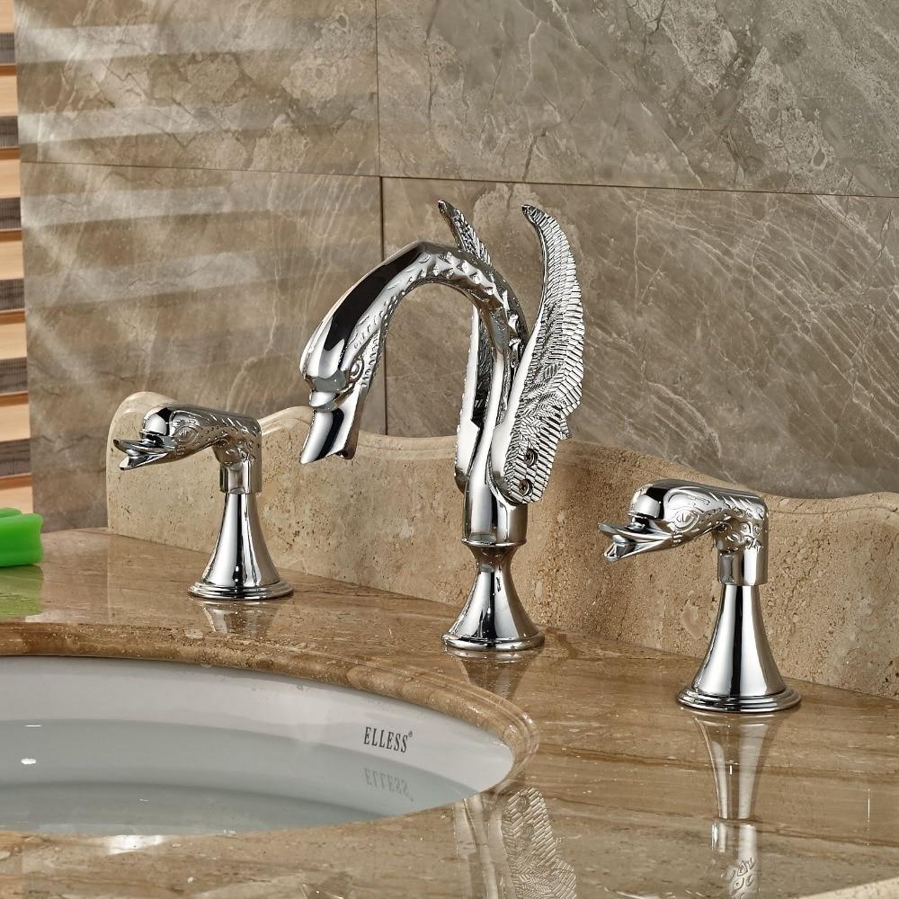 Beautiful Design Polished Chrome Brass Swan Faucet