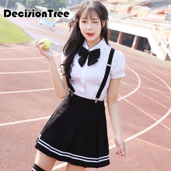 2019 school uniform set student uniform tie sailor suit set JK uniform costume japanese school uniform girl cute cosplay in School Uniforms from Novelty Special Use