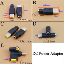 Adaptador de Energia DC 7.9*5.5 5.5x2.1mm Fêmea para Plugue Quadrado Conector para Lenovo Laptop Notebook PC para ThinkPad Ultrabook X230S(China)