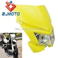 Faro Universal de Supermoto para Suzuki DRZ  RMZ  RM TS  RM  motocicletas deportivas duales  Faro de bicicleta de tierra  carenado