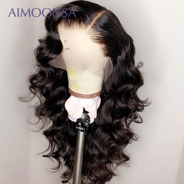 Поддельные волосы головы парик 360 кружевных фронтальных париков предварительно сорвал с Детские Волосы бразильские волнистые человеческие волосы незаметная шапочка под парик бесклеевая парики