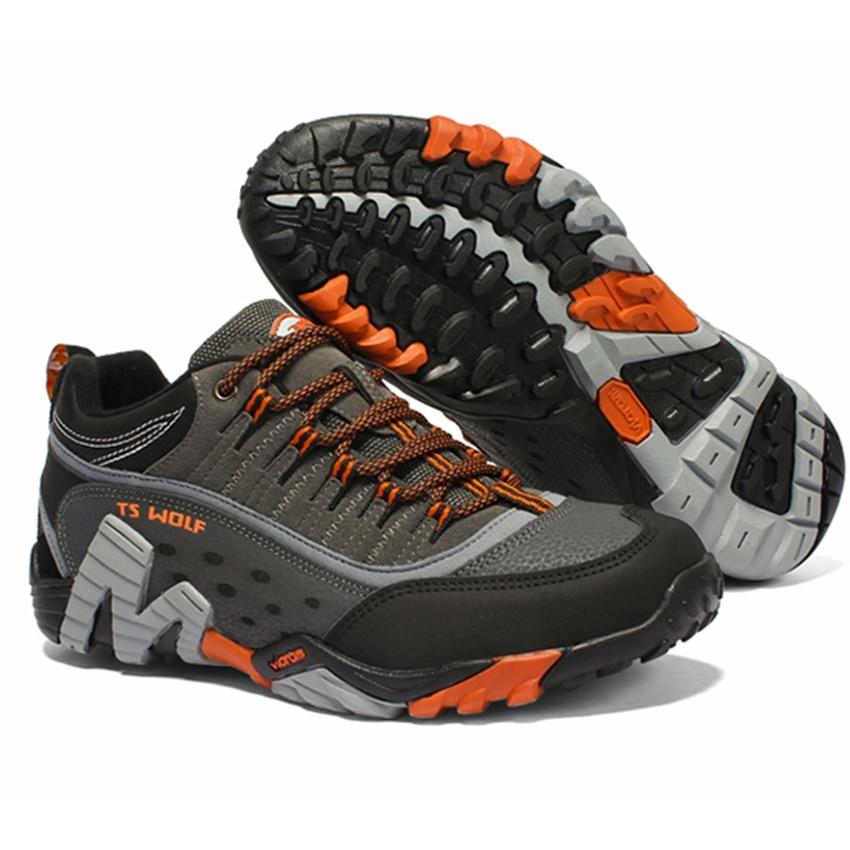 Hommes chaussures de randonnée en plein air imperméable respirant chasse chaussures de trekking marque en cuir véritable sport escalade chaussures de randonnée baskets - 5