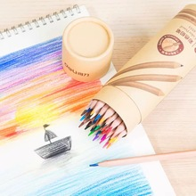 48 Colors/set Professional Colored HB Pencils Set for Kids Wooden Pointing Graffiti Pencil Creative Cute Art Stationery Supplies 10pcs lot wooden pencils rainbow jumbo colored pencils 4 mixed colors pencil diy drawing pens stationery for kids graffiti pen