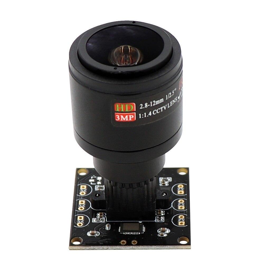 2MP M12 Mount 2 8 12mm Varifocal Webcam 60fps 120fps OmniVision OV2710 OTG UVC USB Camera