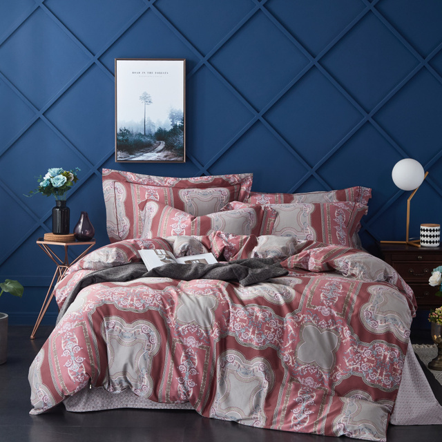 Egyptian Cotton Bedding Set Printed Bed Set Duvet Cover BedSheet Bedding Sets Pillowcases M-Series European Style Muse
