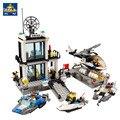Bloques de construcción de autobuses Estación de Policía Avión barco camión Ciudad Niños Niños Juguetes Compatible Con Legoe Regalos de Navidad para Los Niños