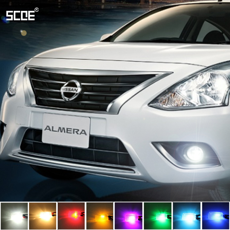 где купить  For Nissan Almera Almera Classic Almera Tino SCOE 2X 12SMD LED Front Parking Light  Front Side Marker Light Source Car Styling  по лучшей цене