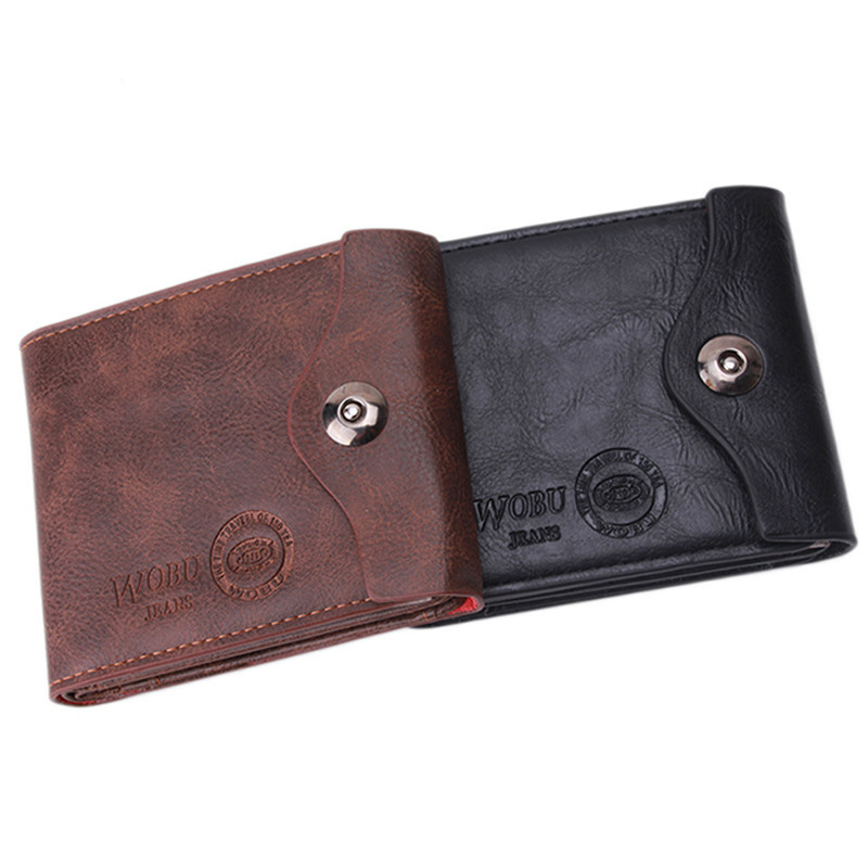 2018 New PU Men's Wallet Multifunctional Short Design Men Wallet Hasp Coin Purse Card Holder(China)