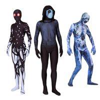 Adult Kids Halloween Terror Ghost Skull Horrible Cosplay Costume Zombies Zentai Bodysuit Suit Jumpsuits Tights For Men Women