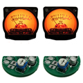 Amplificador de potência de mesa VU medidor de nível de mesa 2 mesa de dois terno livre em disco placa de áudio vu medidor de nível de áudio metro