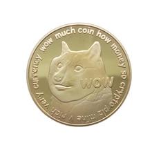 Монеты иностранных валют Dogecoin памятная монета Dogecoin сувенирная коллекция искусства