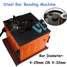 Electric Hydraulic Steel Bar Bending Machine Open Up 4-25mm Rebar Bender Reinforcing Steel Crooking EXPRB-25
