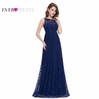 Navy Blue Prom Dresses Ever Pretty EP08824 2017 Elegant Formal A Line Floor Length Long Plus