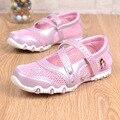 2016 Crianças Meninas Sapatos da Moda Sandálias Princesa Crianças Doce Dos Desenhos Animados Único Malha Respirável Tênis Calçados Esportivos Casuais