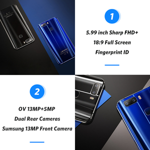 Image 4 - LEAGOO S8 Pro 6GB 64GB 5.99 18:9 Display Mobile Phone Android 7.0 MTK6757 Octa Core Dual Cameras Fingerprint ID 4G Smartphone
