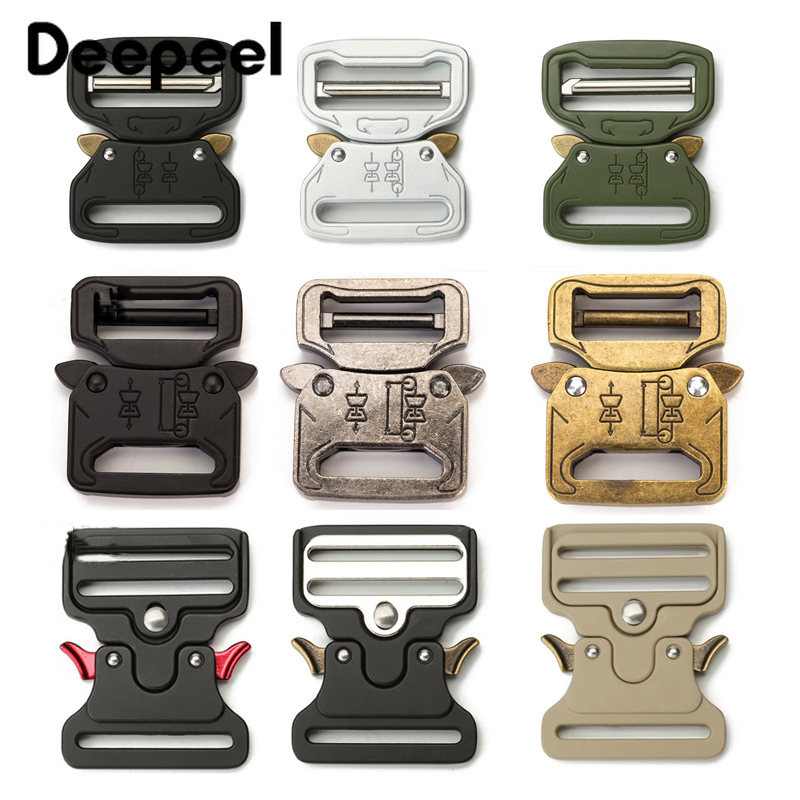 Deepeel 1pc Thicking Metal Release Buckle For Waist Belt Safety Canvas Bands Strong Hooks Clips DIY Outdoor Luggage Supplies