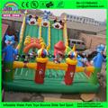 Children 's playground inflatable/amusement park eqiupment / cheap inflatable fun city with high slide