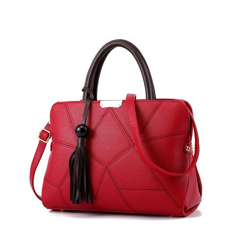 Designer Brand Bags Women Leather Handbags Luxury Ladies Hand Bag Purse Fashion Shoulder Bags Bolsa Sac for Female Tassel Tote