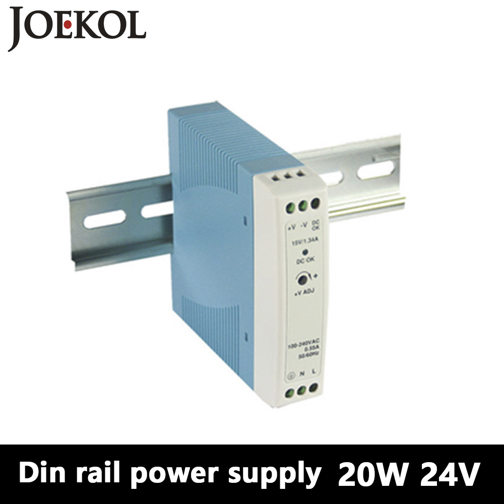 MDR-20 Din Rail Power Supply 20W 24V 1A,Switching Power Supply AC 110v/220v Transformer To DC 24v,ac dc converter mdr 100 din rail power supply 100w 48v 2a switching power supply ac 110v 220v transformer to dc 48v ac dc converter
