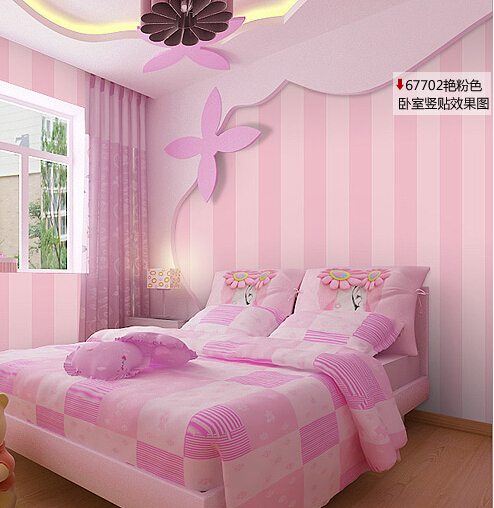 Aliexpress Com Buy Modern Romantic Striped Wallpaper Bedroom Girls Room  Wallpaper For Walls Desktop Wall Paper