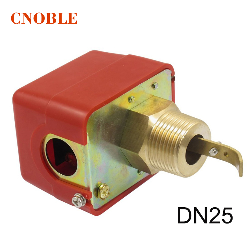 1 inch DN25 Male Thread SPDT Water Paddle Flow Switch HFS-25 for 220VAC 3A Water Flow Sensors Flow Paddle Water Pump johnson f61kb 11c stainless steel target type flow switch flow switch flow controller 1 inch outside the wire