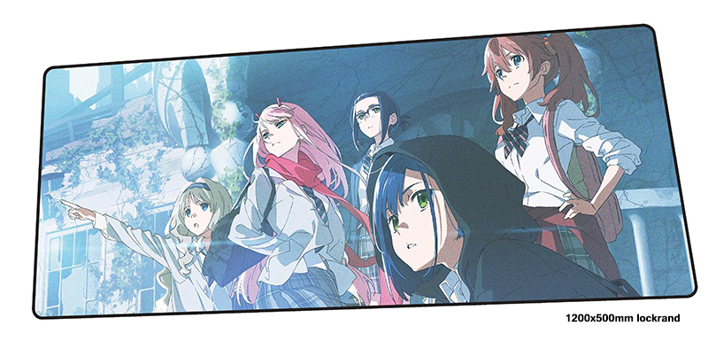darling in the franxx mousepad 1200x500mm big gaming mouse pad gamer mat High quality game computer padmouse keyboard play mats
