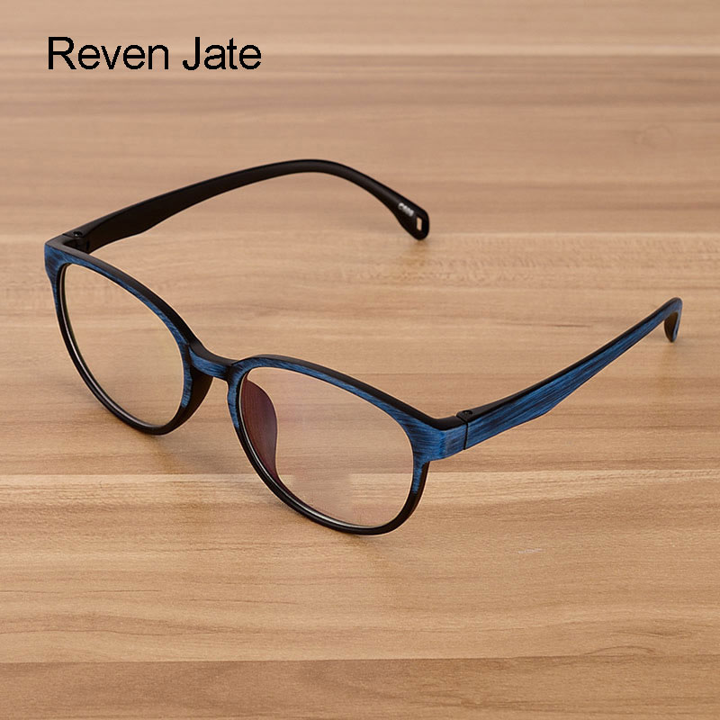 Reven Jate Men And Women Unisex Wooden Pattern Fashion Retro Optical Spectacle Eyeglasses Glasses Frame Vintage Eyewear
