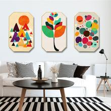 Modern simplicity INS Home decoration customize Hotel restaurant mural Creative octagonal home Geometric art stitching painting