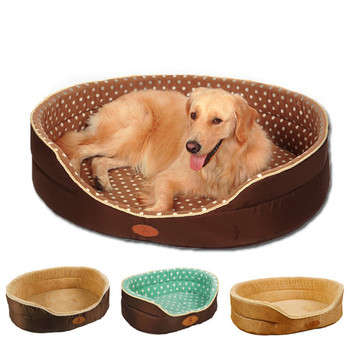 Big Size Extra Large Dog Bed House Sofa Two Sides Convertible All Seasons Kennel Soft Fleece Pet Dog Cat Warm Bed S M L On Sale