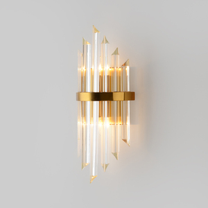 Image 3 - Youlaike Luxury Gold Wall Lamp Modern Crystal Wall Sconce Lighting Fixture Living Room Bedside Stainless Steel LED Wall Light