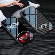 Закаленное стекло mini cooper чехол для телефона для iphone X XS Max 11 pro 6 6s 7 8 plus samsung s8 s9 s10 plus note 8 9 mini cooper чехол s