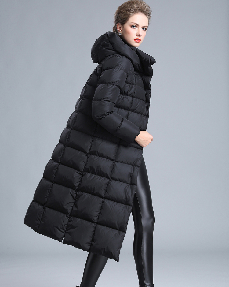 2018   womens winter jackets Long section  Down coat female  with plus size