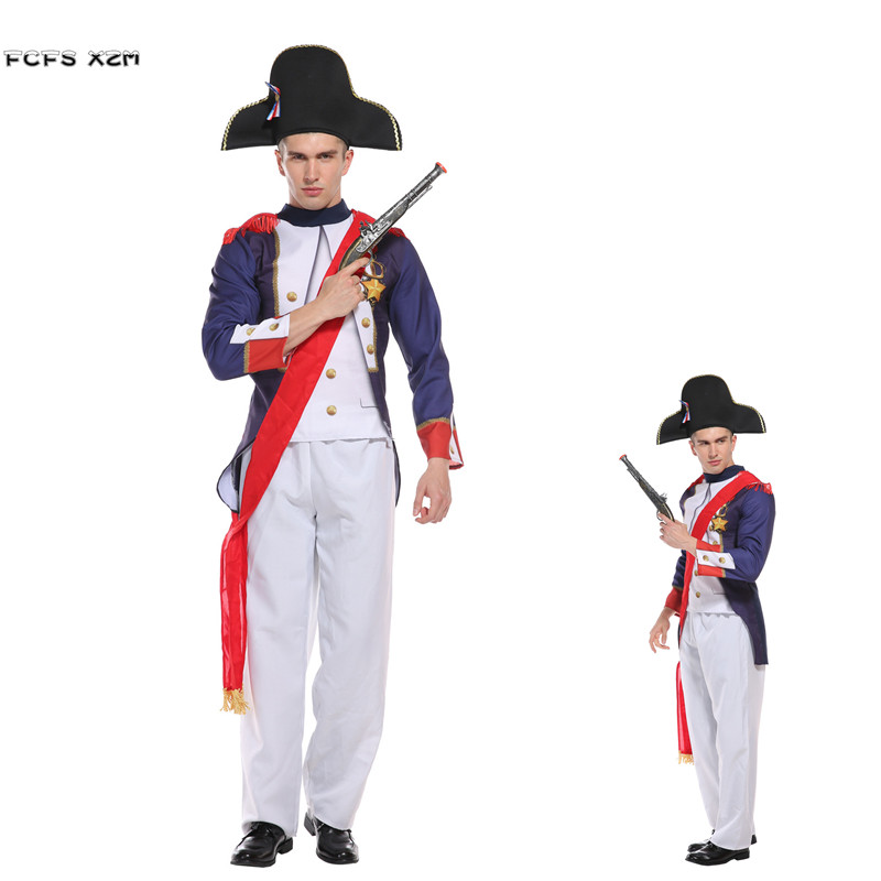 Musketeer Royal Guard Historic Wartime Adults Mens Fancy Dress Costume