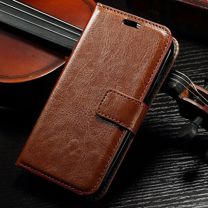 Vintage Wallet style Flip PU Leather Case For <font><b>Alcatel</b></font> <font><b>One</b></font> <font><b>Touch</b></font> Pop C5 5036 <font><b>5036D</b></font> OT5036 stand with card solt Phone Back Cover image