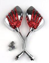 2 unids/par motocicleta espejo Scooter e bike espejos retrovisores Electrombile posterior espejo convexo 8mm a 10mm 10,5 cm x 7cm