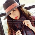 Fashion audrey hepburn woolen bow large brim hat brim wave French female hat lady's fashion accessories