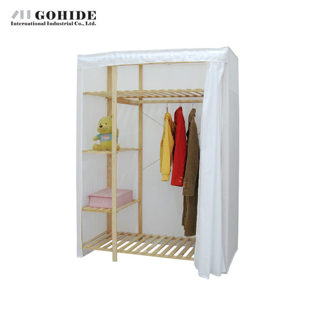 Gohide 117S Wooden Wardrobe Simple Wardrobe Folding Living Room Furniture For Bedroom DIY Clothes Wardrobe Storage  sc 1 st  AliExpress.com & Gohide 117S Wooden Wardrobe Simple Wardrobe Folding Living Room ...