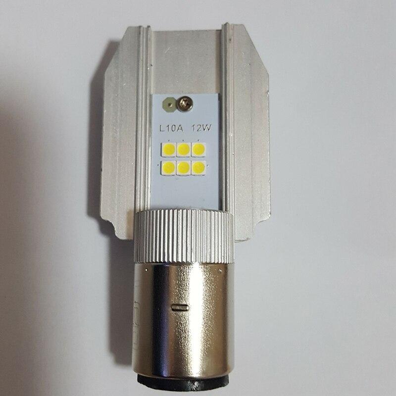 6000K 12W H6 BA20D LED motorcykel strålkastare hej lo lampa för - Motorcykel tillbehör och delar